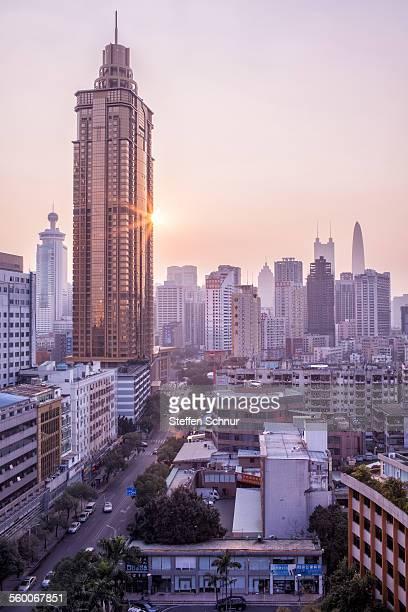 Golden skyline Shenzhen