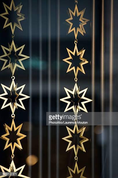 Golden star garlands