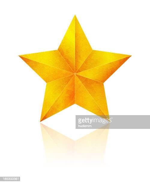 Golden Star (Clipping Path!) isolated on white background