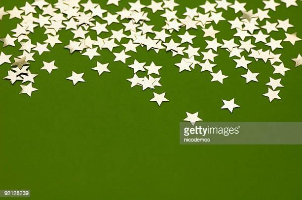 Golden Stars on Green