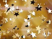 Golden stars.