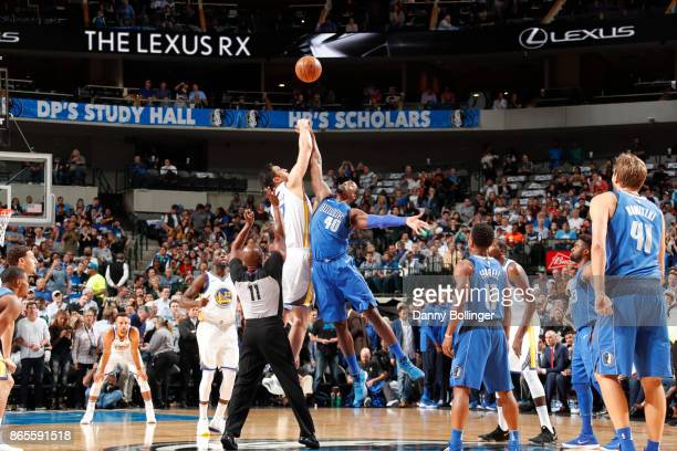 Golden State Warriors and Dallas Mavericks tipoff on October 23 2017 at the American Airlines Center in Dallas Texas NOTE TO USER User expressly...