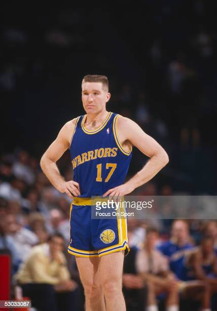 Golden State Warriors' forward Chris Mullin stands and pauses for a moment on the court during a game against the Washington Bullets at Capital...