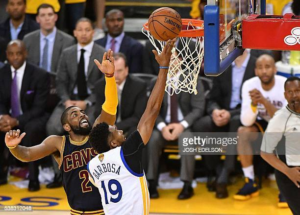 Golden State Warriors guard Leandro Barbosa scores during the fourth quarter in Game 2 of the NBA Finals on June 05 2016 in Oakland California...