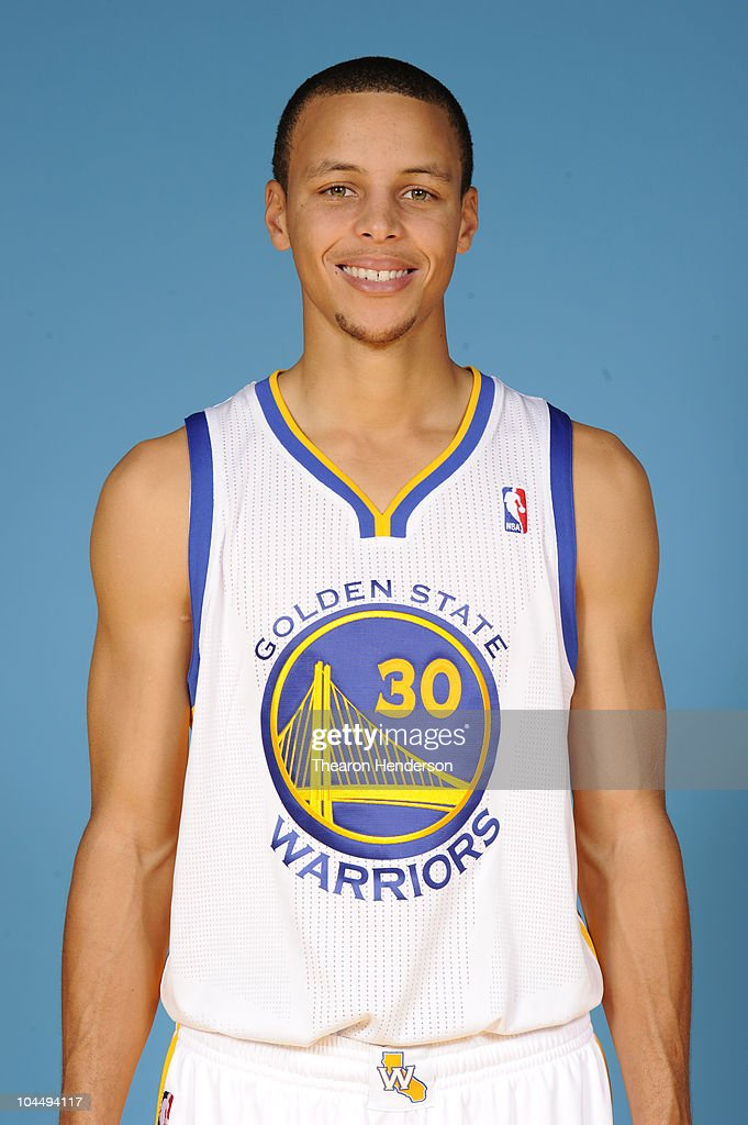 Golden State Warriors guard Stephen Curry #30 poses for a picture at the team's annual Media Day on September 27, 2010 in Oakland, California.