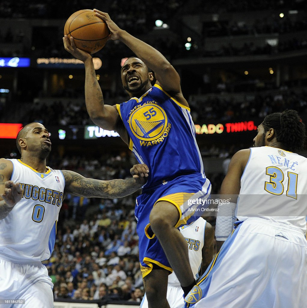 Golden State Warriors small forward Reggie Williams 55 drives