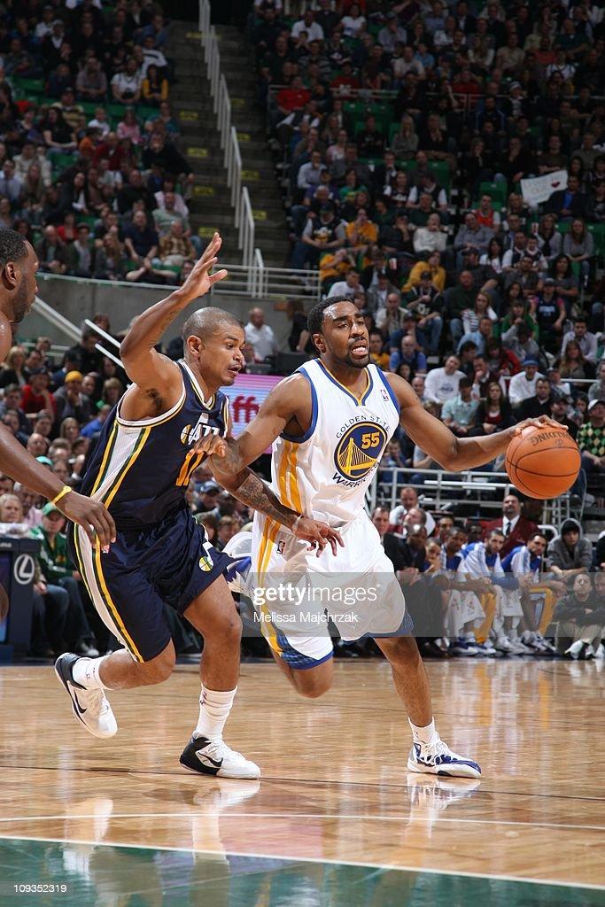 Golden State Warriors small forward Reggie Williams drives to the basket during the game against the Utah Jazz at EnergySolutions Arena on February...