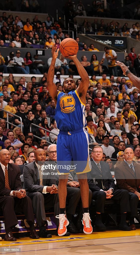 Golden State Warriors small forward Reggie Williams goes for a jump shot during the game against the Los Angeles Lakers at Staples Center on October...