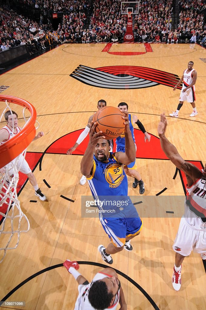 Golden State Warriors small forward Reggie Williams goes to the basket during a game against the Portland Trail Blazers on December 18 2010 at the...