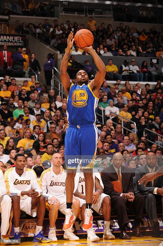 Golden State Warriors small forward Reggie Williams goes to the basket during the game against the Los Angeles Lakers at Staples Center on October 31...