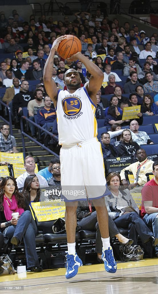 Golden State Warriors small forward Reggie Williams jumps during the game against the Portland Trail Blazers on April 13 2011 at Oracle Arena in...