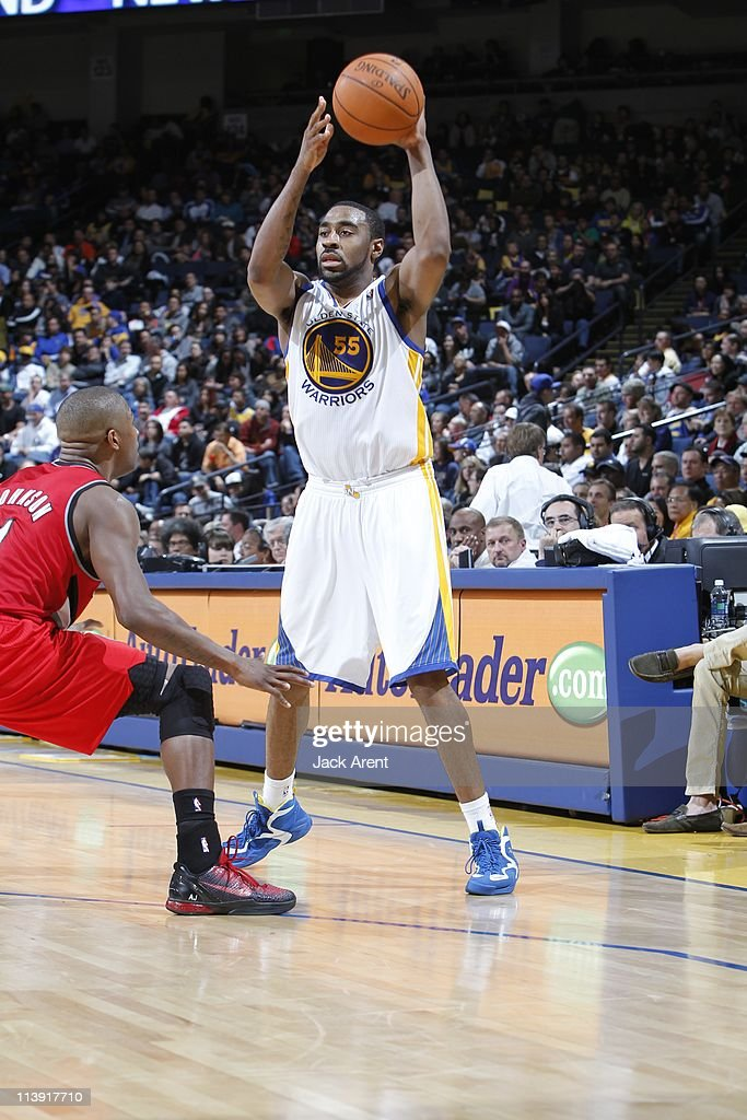 Golden State Warriors small forward Reggie Williams protects the ball during the game against the Portland Trail Blazers on April 13 2011 at Oracle...