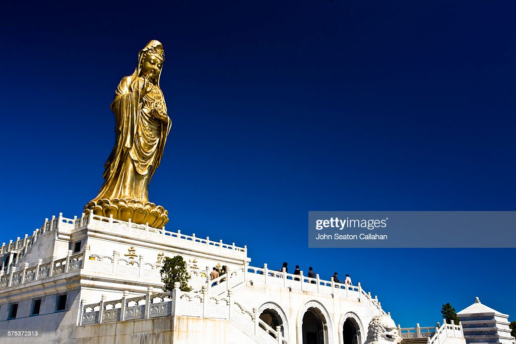 Golden statue of Guanyin at Mount Putuo