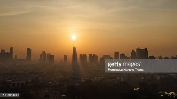Golden Sunrise of Jakarta