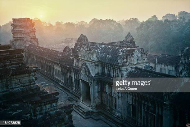 Golden Sunrise over Angkor Wat Thom
