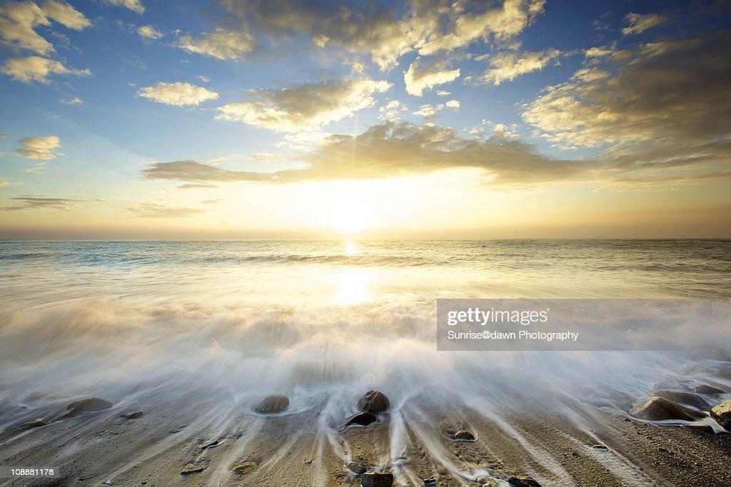 Golden sunrise : Stock Photo