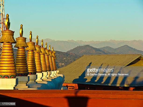 Golden Sunset at Buddhist Monastary, Sikkim