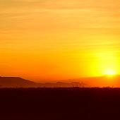 Golden Sunset at the Horn of Africa
