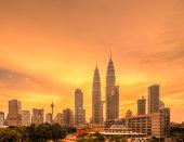 Golden Sunset - Petronas Twin Towers, Kuala Lumpur