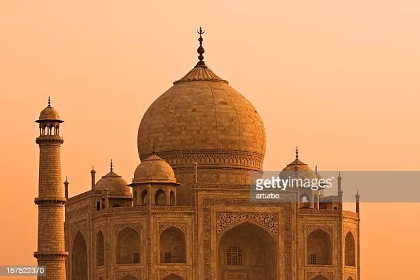 golden Taj Mahal in evening sun