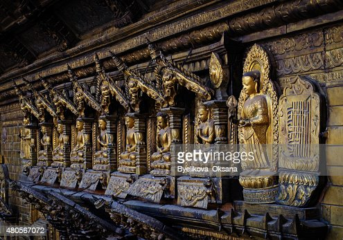 Golden temple in Patan, Lalitpur city, Nepal : Stock Photo