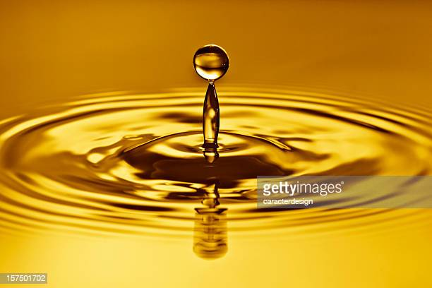 Golden, waterdrop splash.