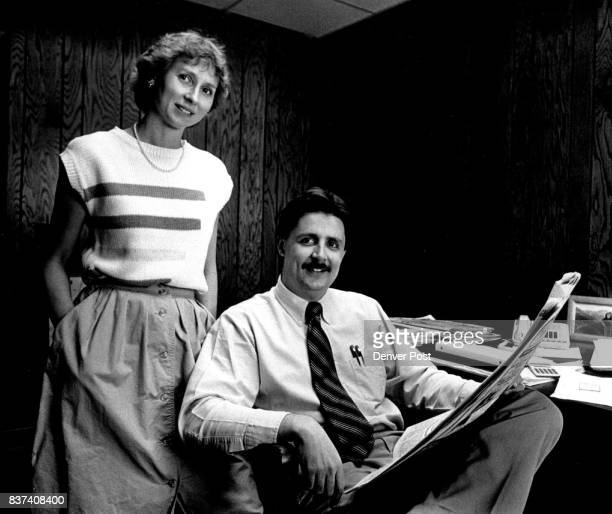 Golden Transcript editor Suzy Engler with her husband Publisher Ed in the offices of the newspaper in Golden Colorado Credit The Denver Post