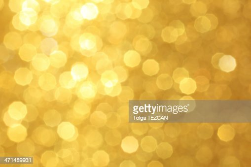 Golden unfocused light background