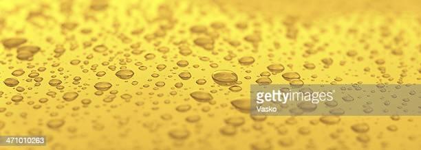 Gotículas de água dourada