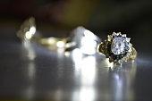 gold, wedding, ring , rings