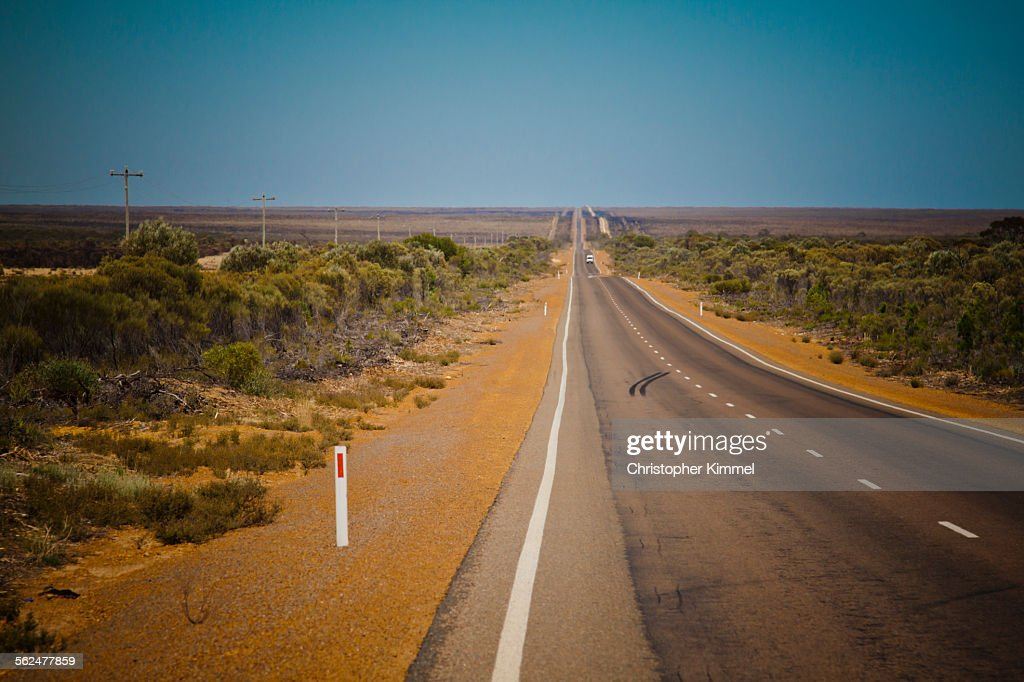 Goldfields Highway in Western Australia.