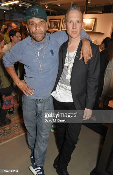 Goldie and Jefferson Hack attend the Rag Bone London flagship store opening on June 9 2017 in London England