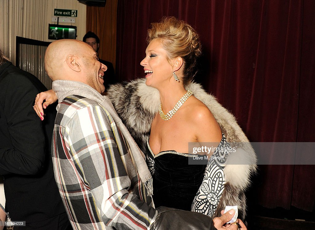 Goldie (L) and <a gi-track='captionPersonalityLinkClicked' href=/galleries/search?phrase=Kate+Moss&family=editorial&specificpeople=201830 ng-click='$event.stopPropagation()'>Kate Moss</a> attend Fran Cutler's surprise birthday party supported by ABSOLUT Elyx at The Box Soho on April 30, 2013 in London, England.