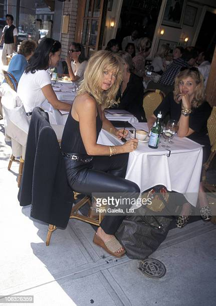 Goldie Hawn and friend during Goldie Hawn Sighted at Cafe on 63rd and Madison Avenue at A Cafe on 63rd and Madison Avenue in New York City New York...