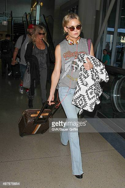Goldie Hawn and Kate Hudson are seen at LAX on November 19 2015 in Los Angeles California