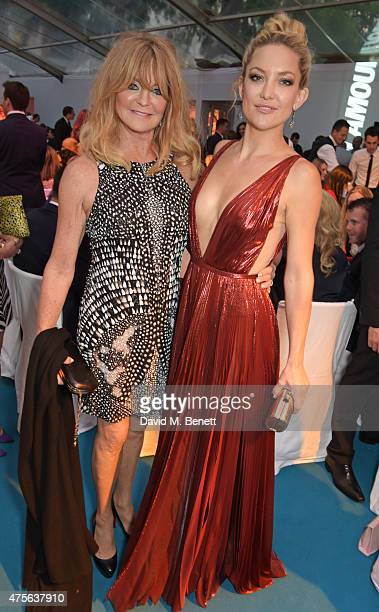Goldie Hawn and Kate Hudson attend the Glamour Women Of The Year awards at Berkeley Square Gardens on June 2 2015 in London England