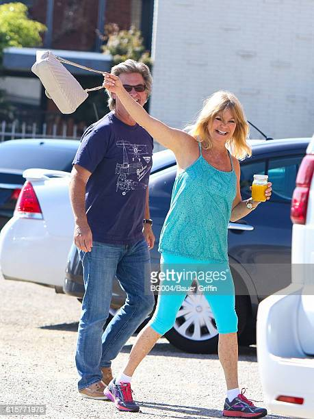 Goldie Hawn and Kurt Russell are seen on October 19 2016 in Los Angeles California