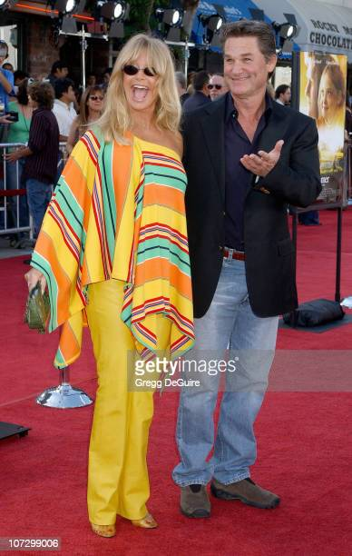 Goldie Hawn and Kurt Russell during DreamWorks Pictures' 'Dreamer Inspired by a True Story' Los Angeles Premiere Arrivals at Mann Village Theatre in...