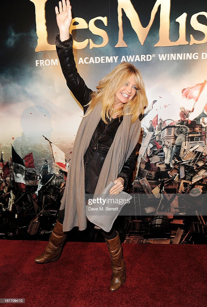 Goldie Hawn attends an after party following the World Premiere of 'Les Miserables' at The Roundhouse on December 5, 2012 in London, England.