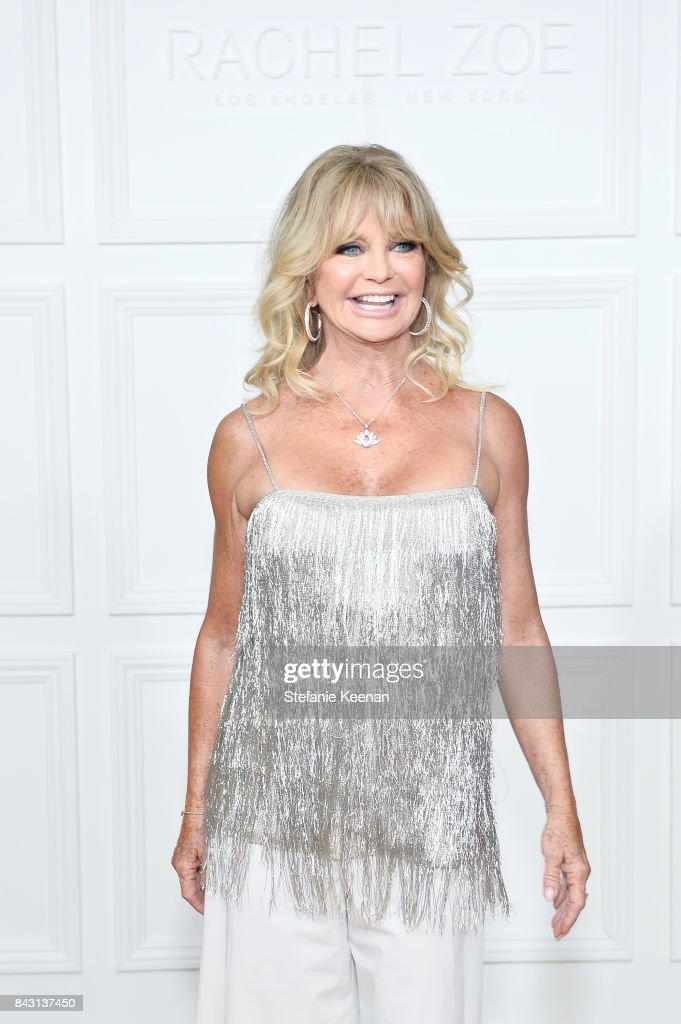 Goldie Hawn attends Rachel Zoe SS18 Presentation at Sunset Tower Hotel on September 5, 2017 in West Hollywood, California.