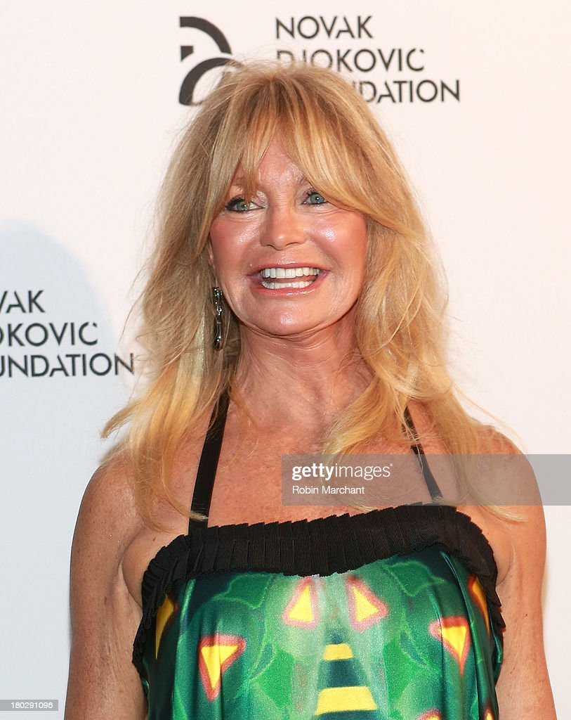 <a gi-track='captionPersonalityLinkClicked' href=/galleries/search?phrase=Goldie+Hawn&family=editorial&specificpeople=171422 ng-click='$event.stopPropagation()'>Goldie Hawn</a> attends the 2013 Novak Djokovic Dinner at Capitale on September 10, 2013 in New York City.