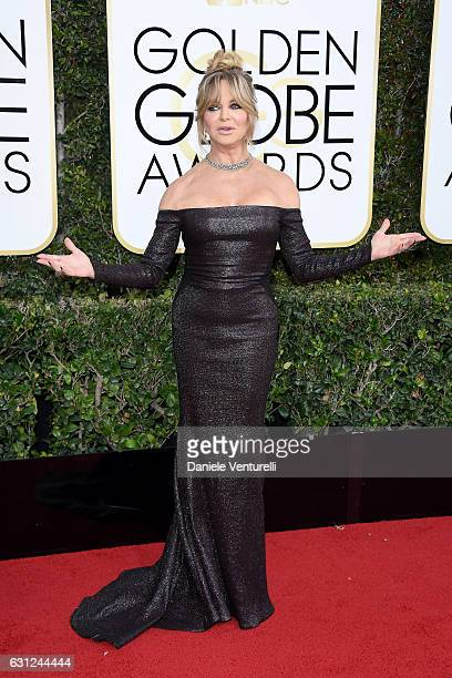 Goldie Hawn attends the 74th Annual Golden Globe Awards at The Beverly Hilton Hotel on January 8 2017 in Beverly Hills California