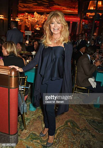 Goldie Hawn attends the launch of Sexy Fish London in Berkeley Square on October 8 2015 in London England
