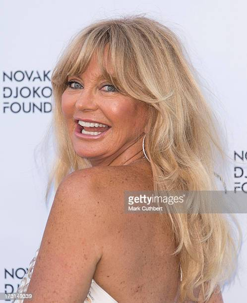 Goldie Hawn attends the Novak Djokovic Foundation London gala dinner at The Roundhouse on July 8 2013 in London England
