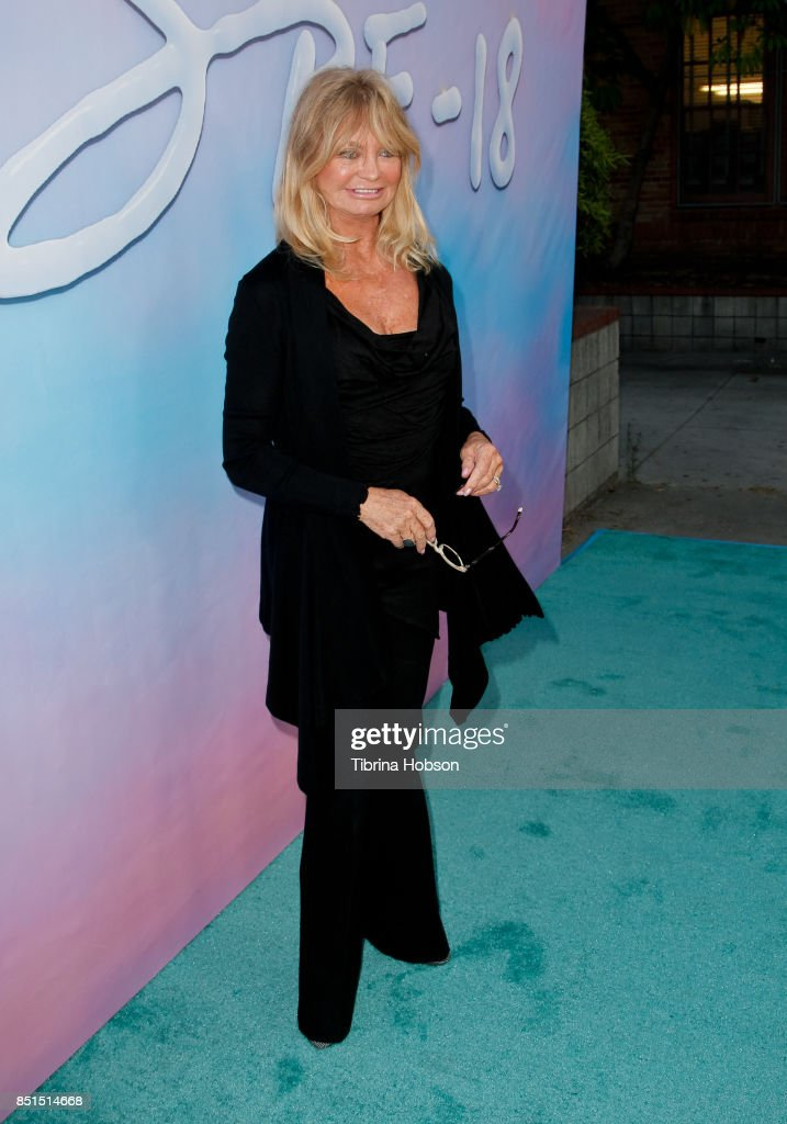 Goldie Hawn attends the premiere of 'SPF-18' at University High School on September 21, 2017 in Los Angeles, California.