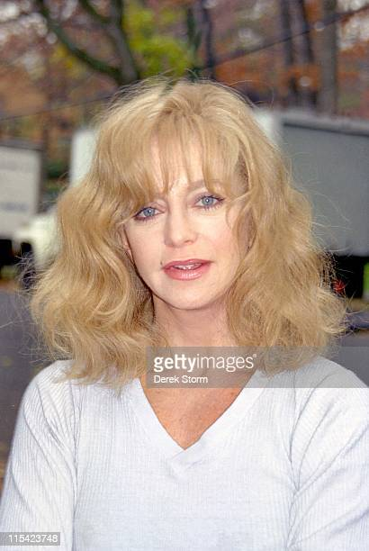 Goldie Hawn during Goldie Hawn on the set of 'Everyone Says I Love You' April 14 1995 in New York City New York United States