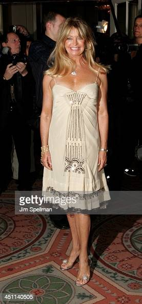 Goldie Hawn during keep inactive as per kristenMuseum of the Moving Image Salute to Ron Howard Arrivals at WaldorfAstoria Hotel in New York City New...