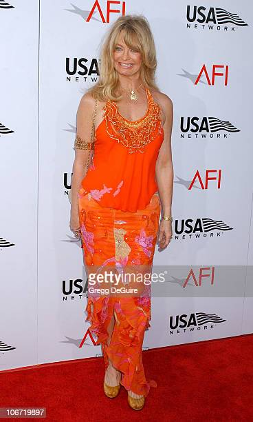 Goldie Hawn during USA Network Presents 2004 AFI Lifetime Achievement Award A Tribute to Meryl Streep Arrivals at The Kodak Theater in Hollywood...
