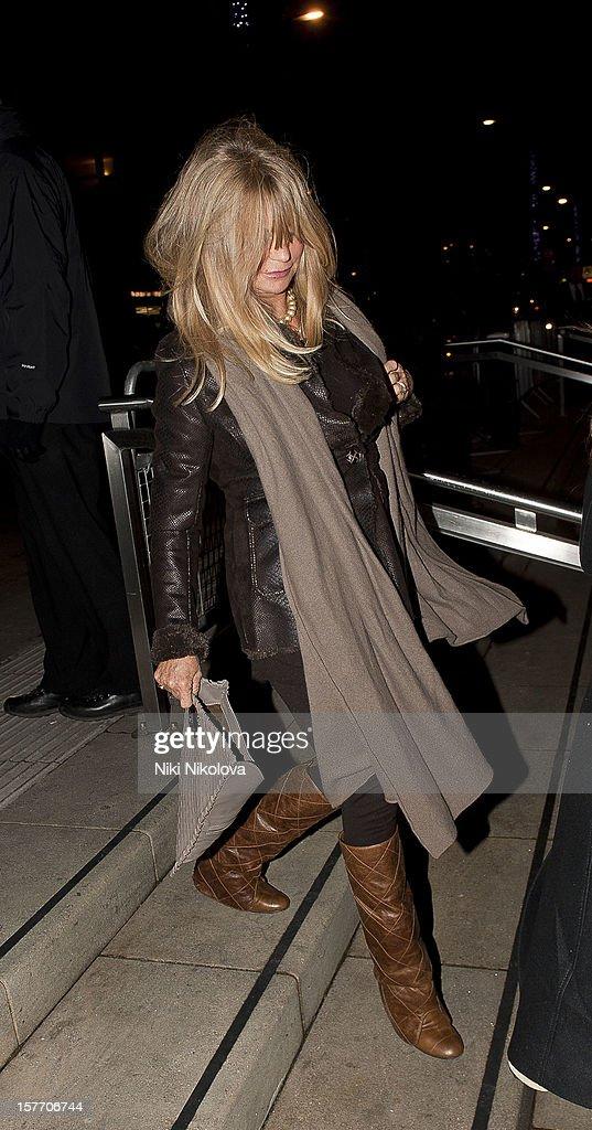 Goldie Hawn sighting on December 5, 2012 in London, England.
