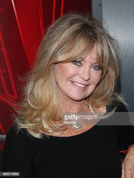 Goldie Hawn visits 'Opening Bell With Maria Bartiromo' on FOX Business Network at FOX Studios on March 5 2015 in New York City